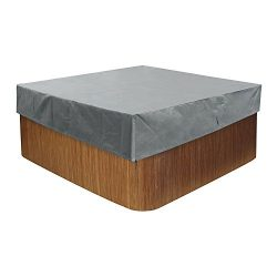 COVERKING CLUB 88″ W x 88″ D x 14″ H Outdoor Heavy Duty Square Hot Tub Cover W ...
