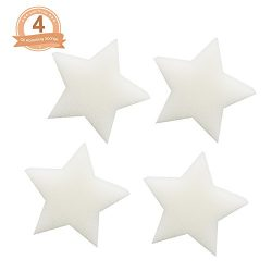 Fomei [2018 New Design] Scum Star Oil Absorbing Sponge-4 Pack Oil Sponge Perfect for Collecting  ...