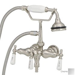 Randolph Morris Clawfoot Tub Faucet – Wall Mount Downspout Faucet w/ Handshower