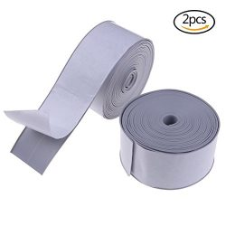 Yiphates Tub and Wall Bathtub Sealer PE Bath and Shower Self Adhesive Caulk Tape Corner Protecti ...