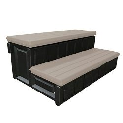 Leisure Accents Deluxe Spa Step, 36 Inches Long, Portabello/Beige