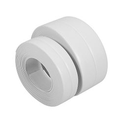 White Wall Caulk Strip Adhesive Kitchen Caulk Tape and Bathroom Wall Sealing Tape Caulk Sealer M ...