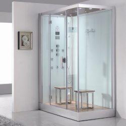 Ariel Platinum DZ961F8-W-L White Left Side Drain Steam Shower