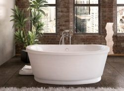 Atlantis Whirlpools 3666a Allure Oval Soaking Bathtub, 36 X 66, Center Drain, White