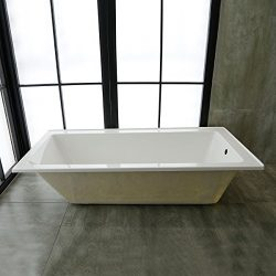 59 In Drop-in Bathtub – Acrylic White (B-2002-1500R-ET)
