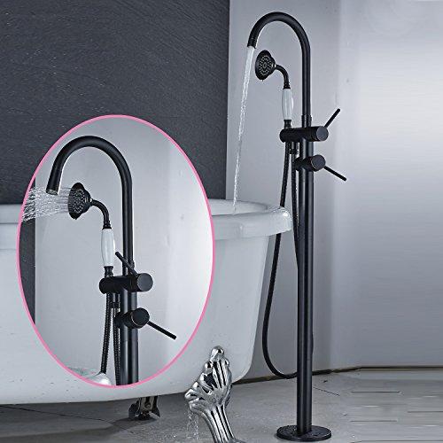 Senlesen Oil Rubbed Bronze Floor Mounted Bathroom Faucet