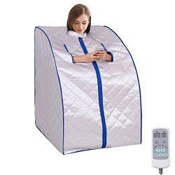 New Upgraded Portable Intelligent Dry Heat Sauna Far Infrared FIR Sauna Full Body Slimming Loss  ...