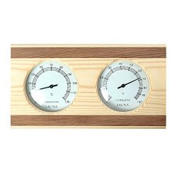 RGX Double Sauna Accessory Pine Wooden with Red Ceder Wooden Decorate Hygrothermograph Thermomet ...