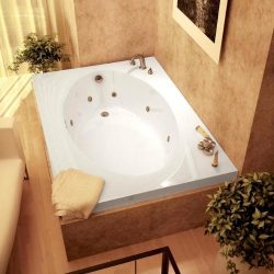 Atlantis Whirlpools 4260vwl Vogue Rectangular Whirlpool Bathtub, 42 X 60, Left Drain , White