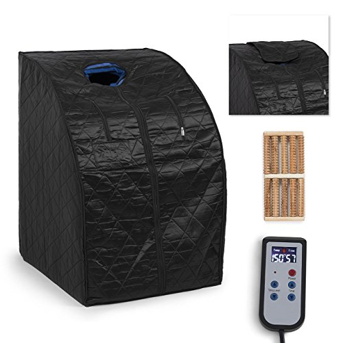Portable Personal Therapeutic Sauna SPA Slim Detox Weight Loss Home Indoor Black