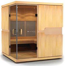 Sunlighten mPulse Discover Infrared Basswood Home Sauna
