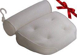 Royal Casa Bath Pillow – Non Slip, Luxury Bathtub Support To Your Head & Neck. Anti-Mold &am ...