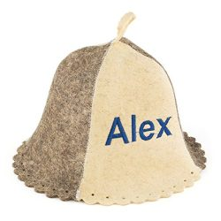 "Eden Ukraine Wool Sauna Hat Embroidered ""Alex"""
