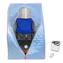 AW Portable Large Chair Blue Personal Therapeutic Steam Sauna SPA Slim Detox Weight Loss Home