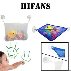 HiFans 2 X Bath Toy Organizer – Bathtub Toy Storage Hammock and Hanging Net Corner Wall O ...