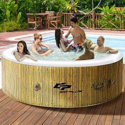 Goplus 6 Person Inflatable Hot Tub for Portable Outdoor Jets Bubble Massage Spa Relaxing w/Acces ...