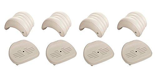 intex pure spa hot tub removable headrest seat accessories 4 pack hottubsme hottubsme. Black Bedroom Furniture Sets. Home Design Ideas