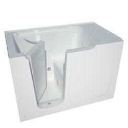 Meditub MT3660LWH Bariatric 36 by 60 by 40-Inch Hydrotherapy Walk In Bathtub Spa Left Side Door, ...