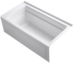 KOHLER K-1123-RA-0 Archer 5-Foot Bath with Comfort Depth Design, Integral Apron and Right-Hand D ...