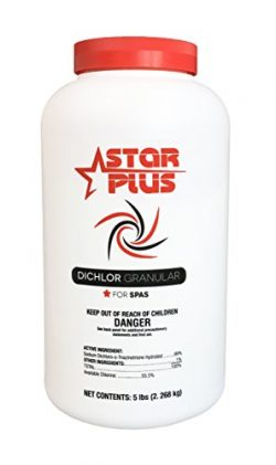 Star Plus Spa Chlorine, 5-Pound Hot Tub Chlorinating Granules