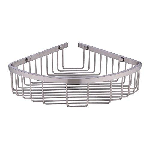 304 stainless steel shower caddy corner basket shelf Bathroom corner shelf brushed nickel