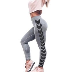 AmyDong Yoga Pants, Womens Leggings Print Skinny Workout Gym Fitness Sports Cropped Yoga Pants E ...