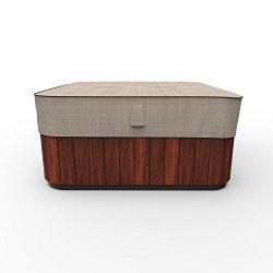 EmpirePatio P9A16PM1 Tan Tweed 86″ Square Hot Tub Cap Cover