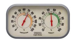 Taylor Precision Products Springfield Color Track Humidity Meter and Thermometer