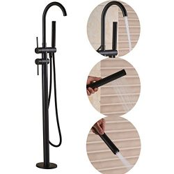 Senlesen Freestanding Bathtub Shower Mixer Taps Floor Mounted Clawfoot Tub Filler Shower Faucets ...