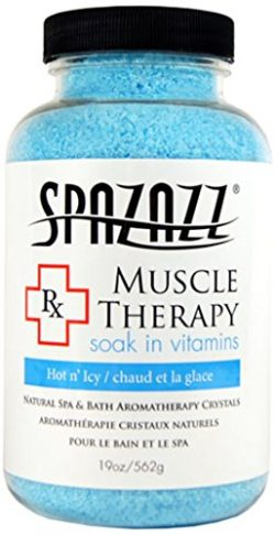 Spazazz SPZ-601 RX Therapy Crystals Container Bath Minerals, 19-Ounce, Muscular Therapy Hot N ...
