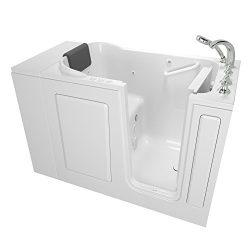 American Standard 2848.109.CRW Gelcoat Premium Series 28″ x 48″ Walk-In Bathtub with ...