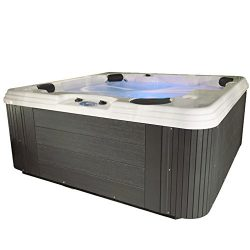 Essential Hot Tubs SS215377403 Polara-50 Jet Hot Tub, Grey