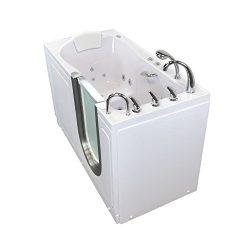 Ella H93057-HB Deluxe Walk-in Tub, 30″ x 55″ x 38″, White