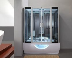 1001 NOW GT9001 Hydro Glass Steam Shower Enclosure with 6 Waterjets