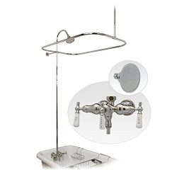 Randolph Morris Clawfoot Tub Shower Enclosure with Downspout Faucet