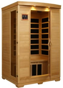 BetterLife BL6232 2 Person Carbon Infrared Sauna with ChromoTherapy Lighting, 48 by 42 by 77-Inc ...