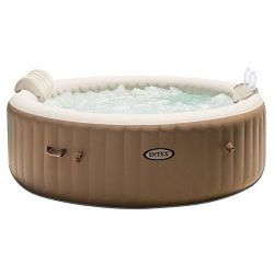 Intex PureSpa 6 Person Inflatable Jet Spa Hot Tub with Drink Tray & Headrest