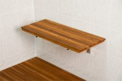 Plantation Teak Wall Mount Fold Down Shower Bench/Seat (30″ x 12.5″)
