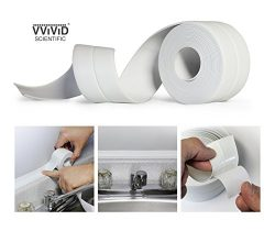 VViViD Peel & Stick Adhesive White Waterproof Caulking Sealant Tape Roll (2 Rolls)