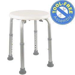 Medical Tool-Free Assembly Adjustable Shower Stool Tub Chair and Bathtub Seat Bench with Anti-Sl ...
