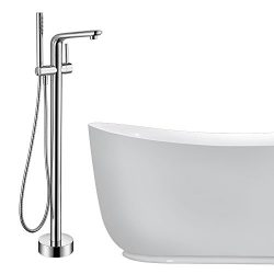 Floor Mounted Bathtub Faucet Set – Doris FA003 Free Standing Clawfoot Faucet Kit for Bathr ...