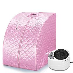 JEOBEST Portable Home Steam Sauna Spa With Chair Weight Loss Slimming Bath Indoor Bath 38.6 x 27 ...
