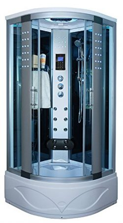 KOKSS 8004-A Corner Shower Enclosure with Hydro Massage Jets