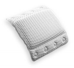Bath Pillow with Suction Cups | Supports Neck and Shoulders | Home Spa Pillows for Bathtub &#821 ...