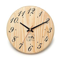 ALEKO WJ12 Analog Clock for Sauna Handcrafted from Finnish Pine