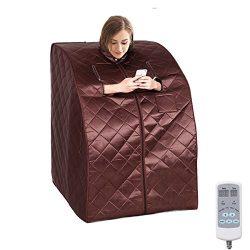 Eosphorus New Upgraded Portable Intelligent Dry Heat Sauna Far Infrared Spa Full Body Slimming L ...