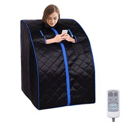 New Upgraded Portable Intelligent Dry Heat Sauna Far Infrared Spa Full Body Slimming Weight Loss ...