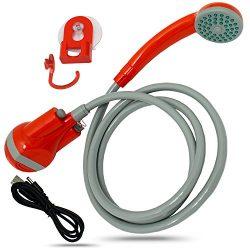 Perfect Life Ideas Handheld Indoor Outdoor Portable Shower – Hand Held Rechargeable Shower ...