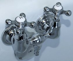 Chrome Plated Brass Clawfoot Tub Filler