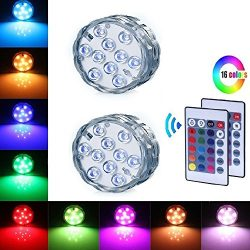 Underwater Submersible LED Lights – Battery Operated Multi Color Changing Waterproof Decor ...
